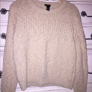 tan/ cream light sweater